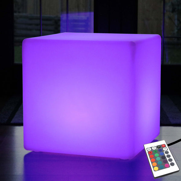 60cm Mood Cube Table Light Mains Powered - Colour Changing