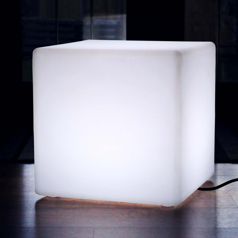 60cm LED Cube Main Powered Floor Mood Lighting - White