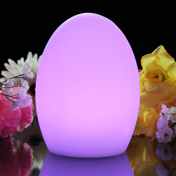 Egg mood lamp glowing purple