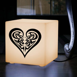 Hand Made Gift Light, LED Table Lamp for Event, Cube , E27, Warm White, Tribal Heart Love Lamp