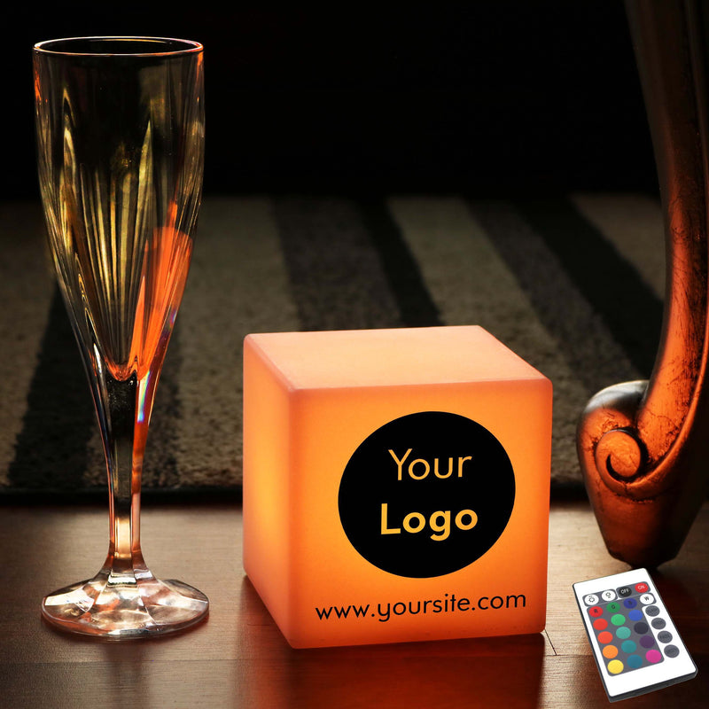 Customised Sign Gift Light Box, LED Multi-Colour Rechargeable Bedside Lamp for Birthday, Cube