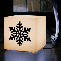 Original Gift Lightbox, Living Room Table Bedside Lamp for Wedding, Cube , E27, Warm White, Snowflake Gift Light