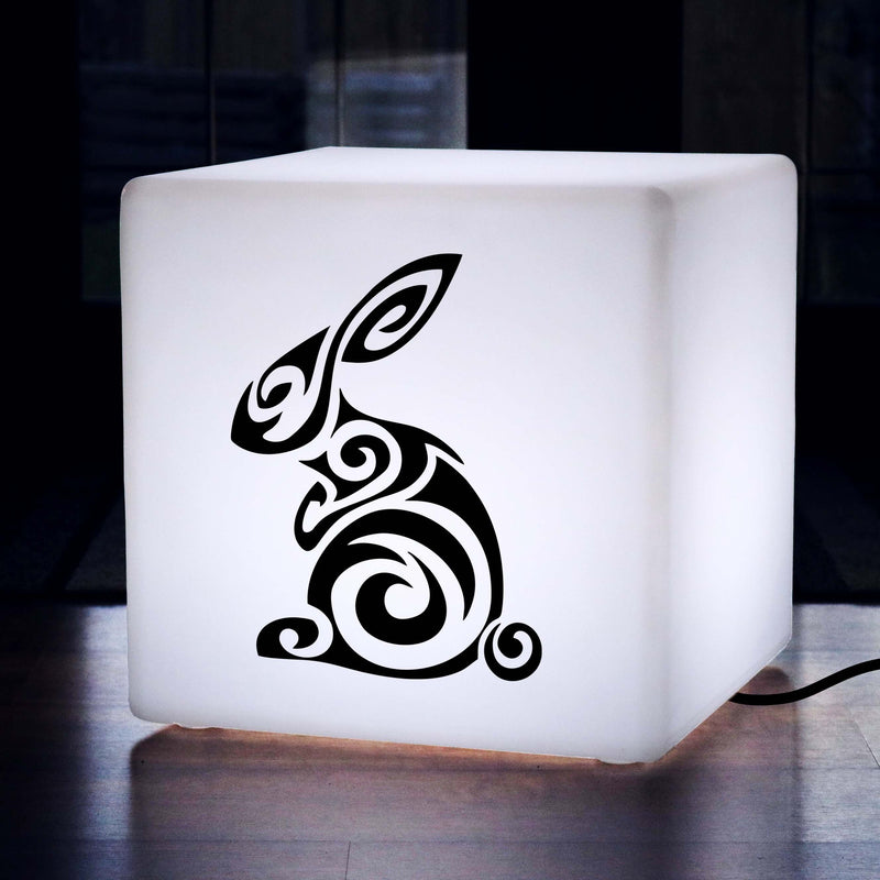 Unique Light Gift for Her, LED LED Stool for Bar, Cube , E27, White, Rabbit Lamp Gift