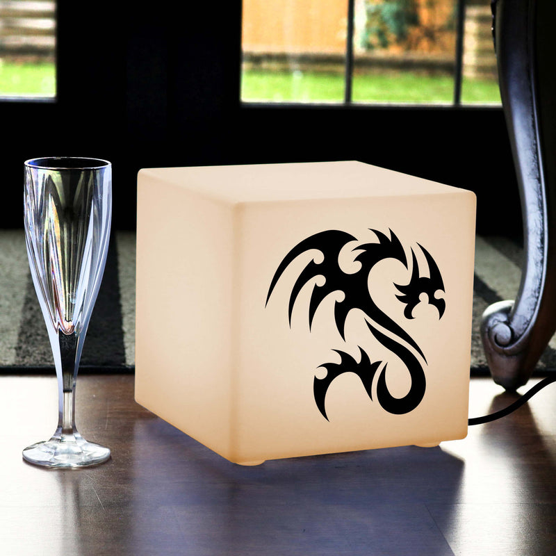 Creative Gift Light for Him, LED Table Lamp for Decoration, Cube , E27, Warm White, Dragon Light Gift