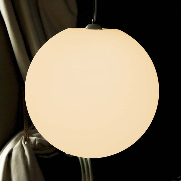 Sphere Pendant Light, 40cm LED Ball Hanging Lamp + Warm White E27 Bulb