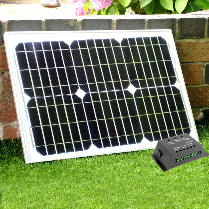 20w solar panel with 10A charge controller