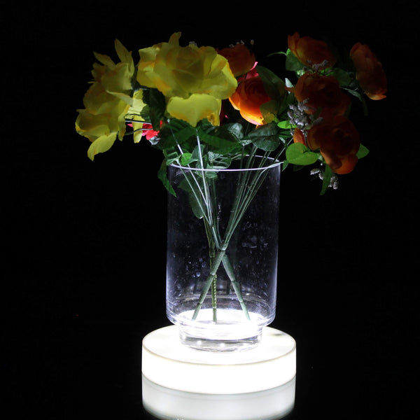 18cm round led base for vases