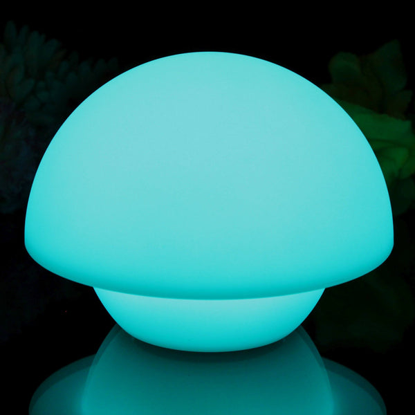 Blue colour changing mushroom lamp