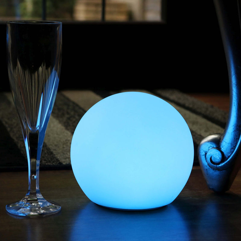 15cm LED Bedside Sphere Lamp, Cordless RGB Ball Mood Light + Remote