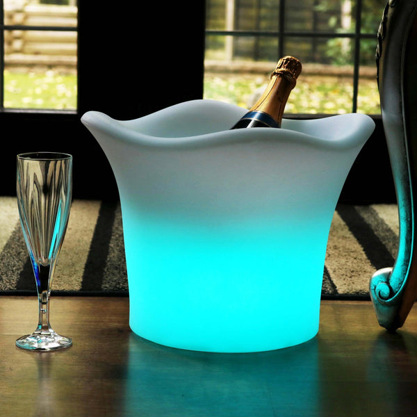 LED Ice Bucket, Rechargeable Light Up Champagne Wine Drinks Cooler