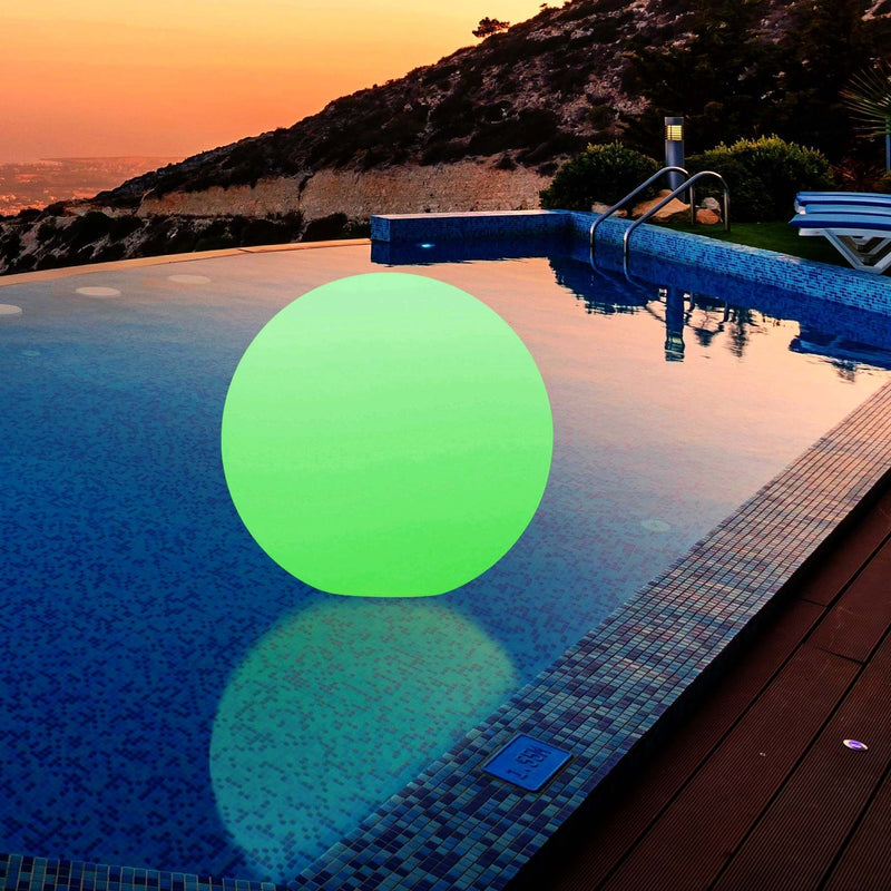 40cm Floating LED Globe Light, Rechargeable Waterproof RGB Ball Lamp