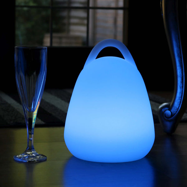 LED Table Lamp Lantern, 23cm Cordless Colour Changing Ambient Lighting