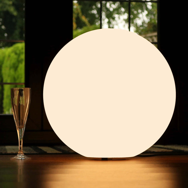 40cm LED Ball Floor Lamp for Living Room, Modern, Warm White E27 Bulb