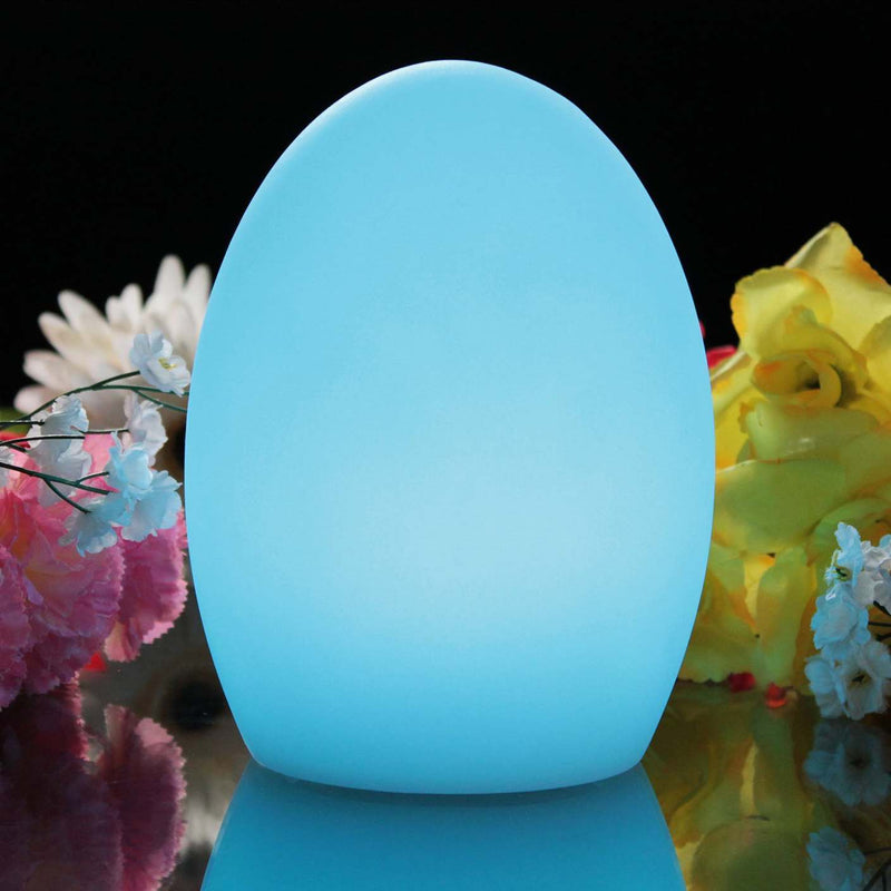 Egg mood light in the colour blue