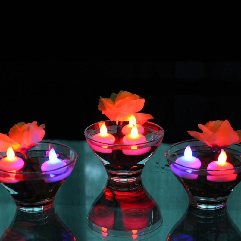 12 Colour Changing Floating LED Tealights