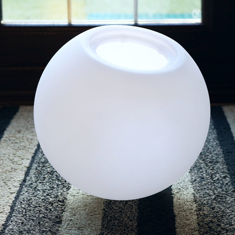 15 cm Globe Orb Lamp Shade, Translucent Hollow PE Plastic Ball Sphere Shell, 150mm Dia.