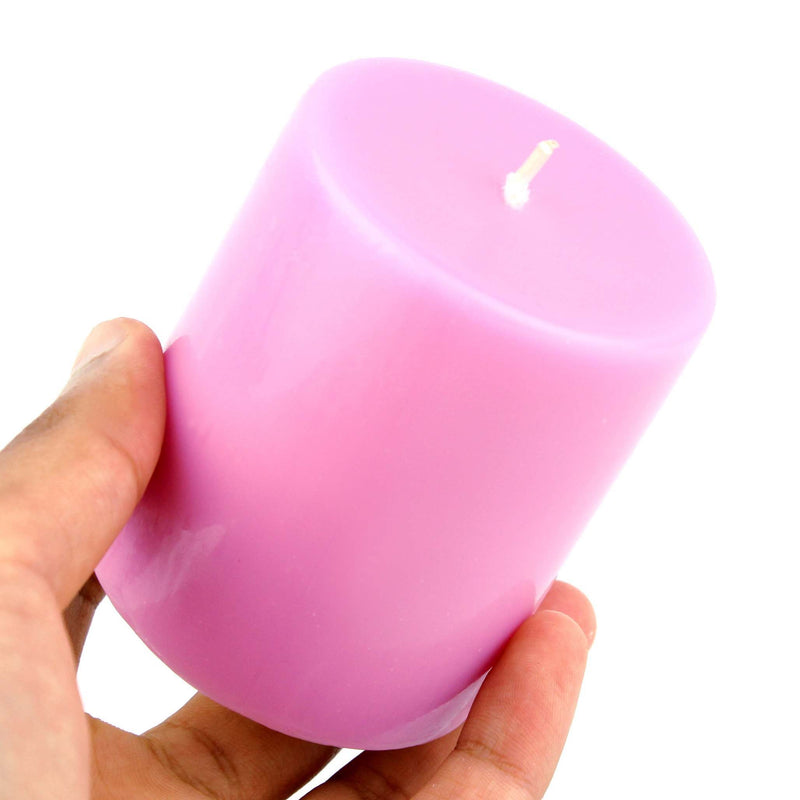 real flame wax candle pink wax lighting