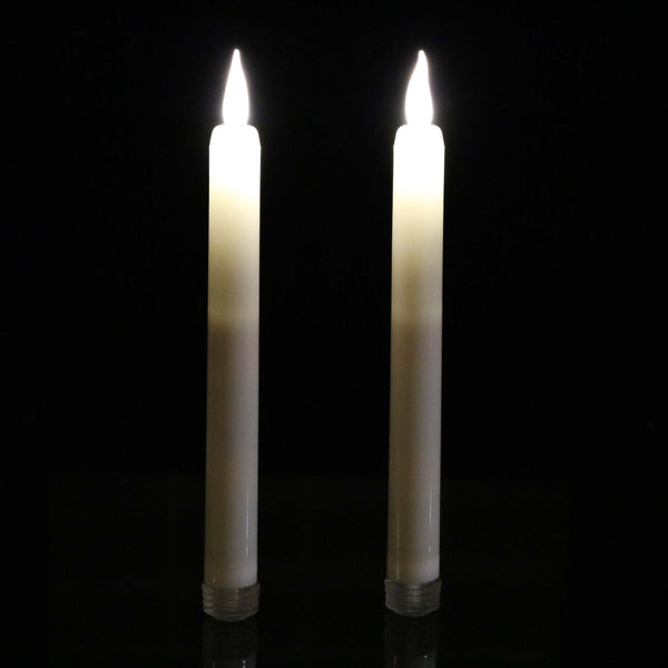 warm white flame taper candles