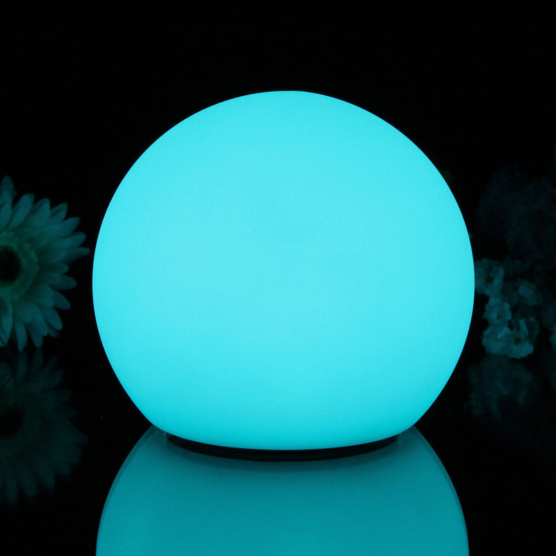 Set of 3 Indoor LED Sphere Lamps Rechargeable RGB Sensory Globe Lights