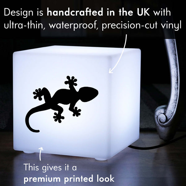 Creative Thoughtful Gift Light, LED Table Bedside Lamp for Hotel, Cube , E27, White, Gecko Gift Light