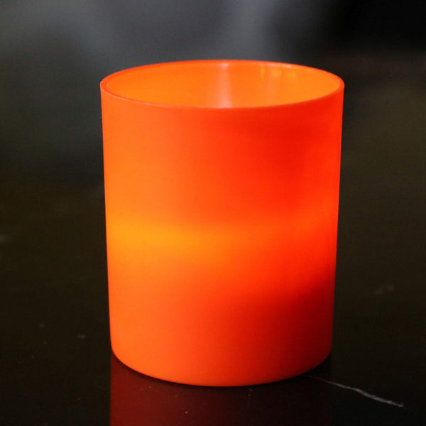 Orange LED candle holders