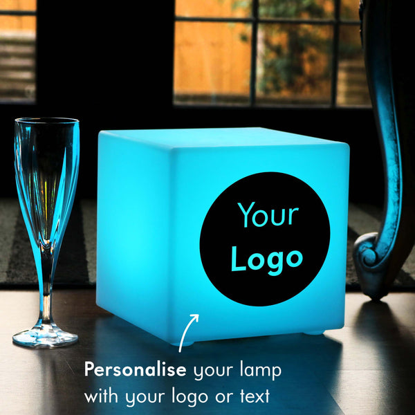 Branded Gift Light Box, Modern Colour Change Wireless Table Lamp for Hotel, Cube