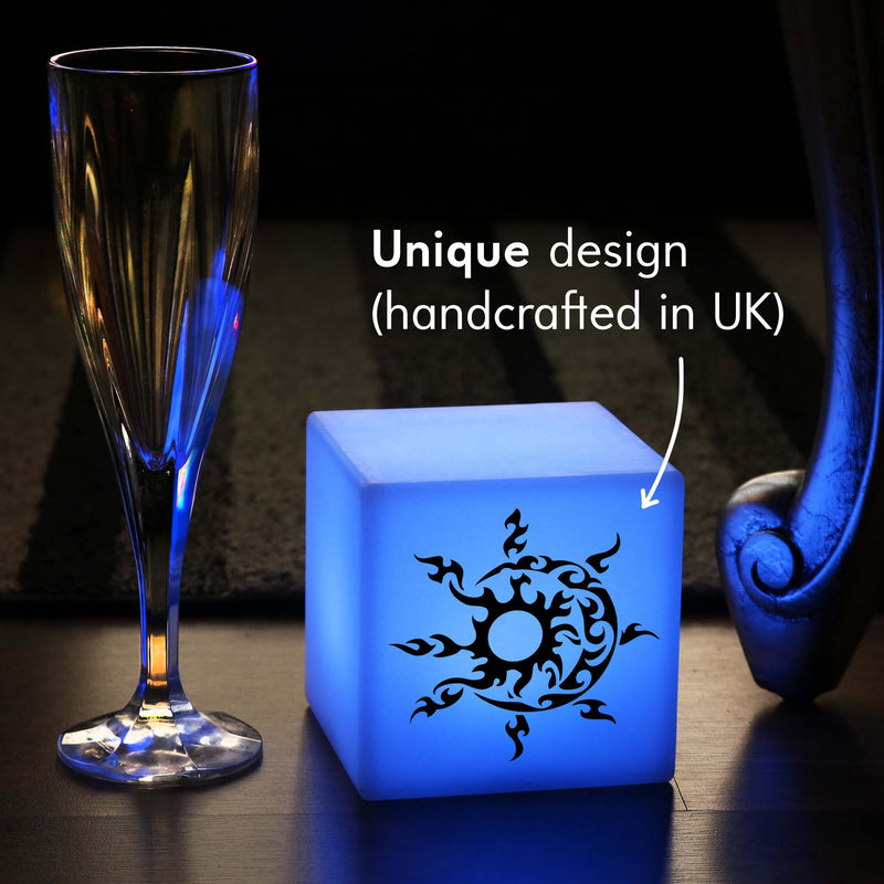 Creative Thoughtful Gift Light, Decorative Dimmable Wireless Bedside Lamp for Restaurant, Cube , Sun and Moon Gift Light