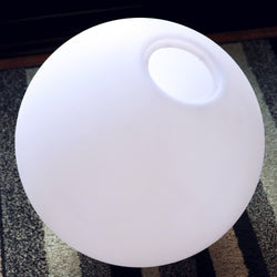 Large 80cm Ball Sphere Lamp Shade, Hollow Semi-Transparent PE Plastic Shell, 800mm