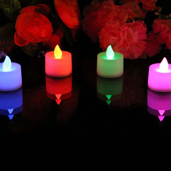Gradual colour changing LED candles