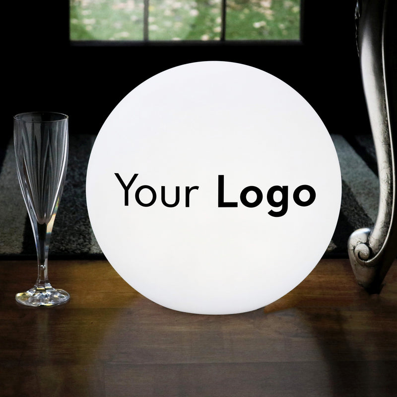 Branded LED Table Lamp, Personalised Multicolour RGB Wireless Circular Light Box Sign