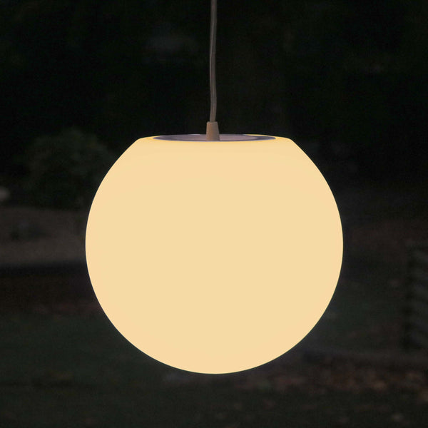 LED Pendant Light, 25cm Modern Ball Hanging Lamp + Warm White E27 Bulb