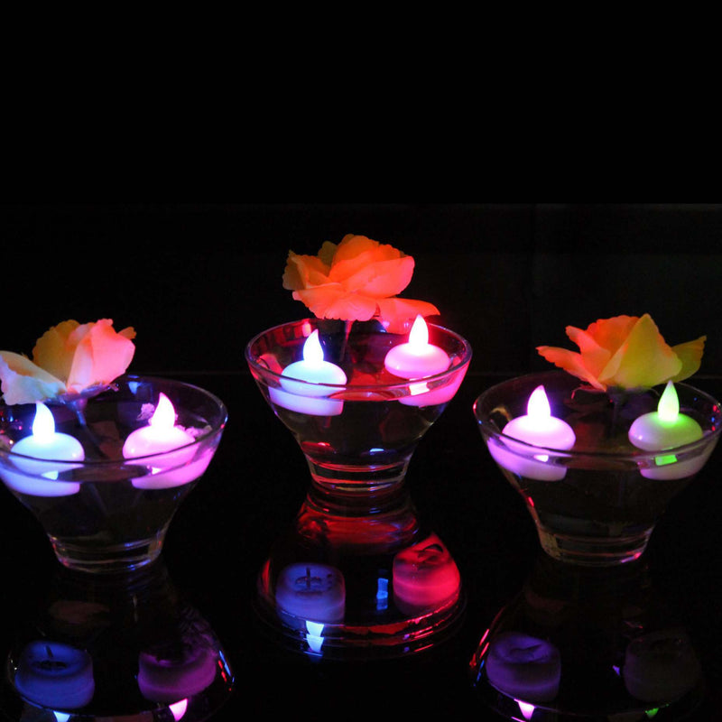 rainbow LED candles