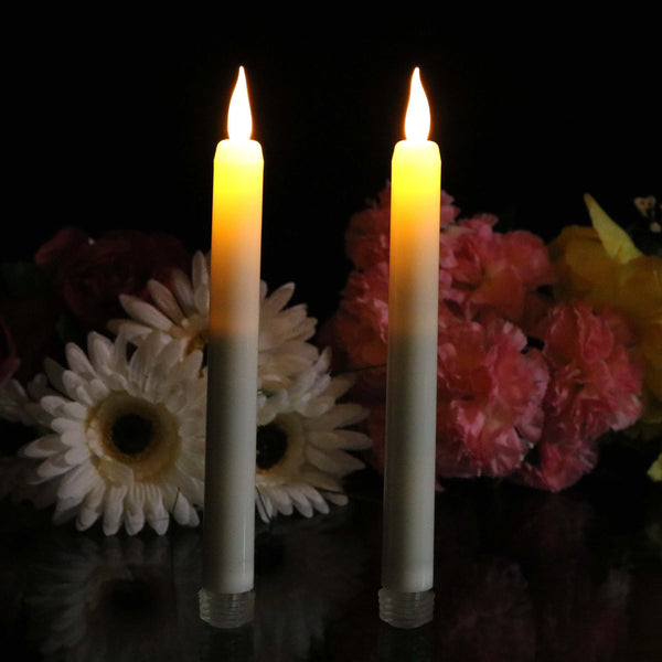 amber led flickering electric taper candles