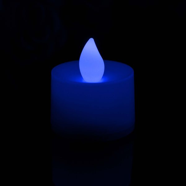 led blue tealight set of 48 candles