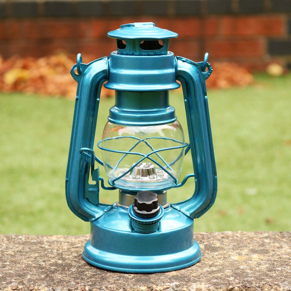blue hurricane lanterns