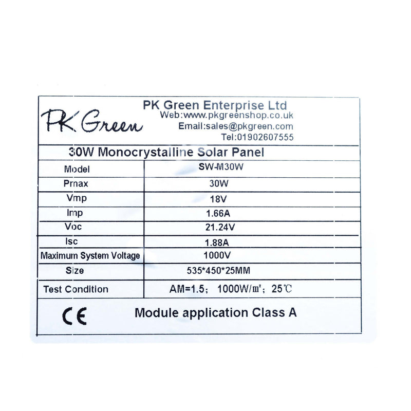 solar panel specifications