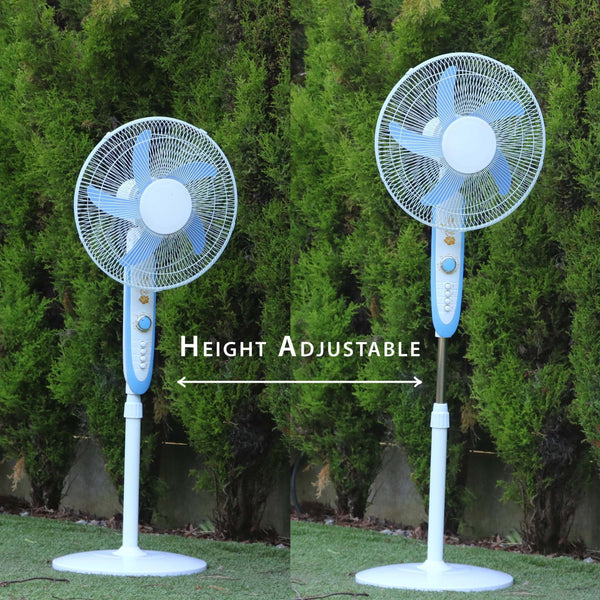 12V DC Fan - Oscillating Floor Standing Portable Pedestal Fan