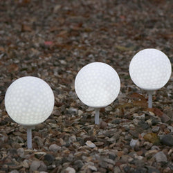set of 3 white led golf balls