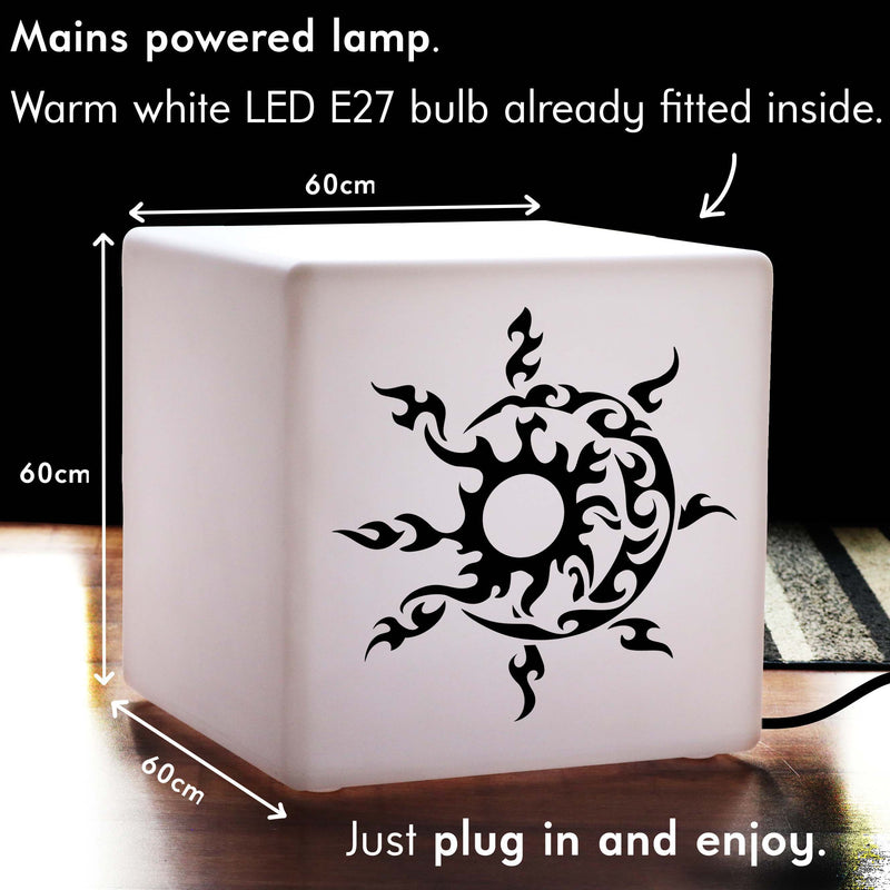 Creative Lightbox, Bedroom Light Up Seat for Birthday, Cube , E27, Warm White, Sun and Moon Light Gift