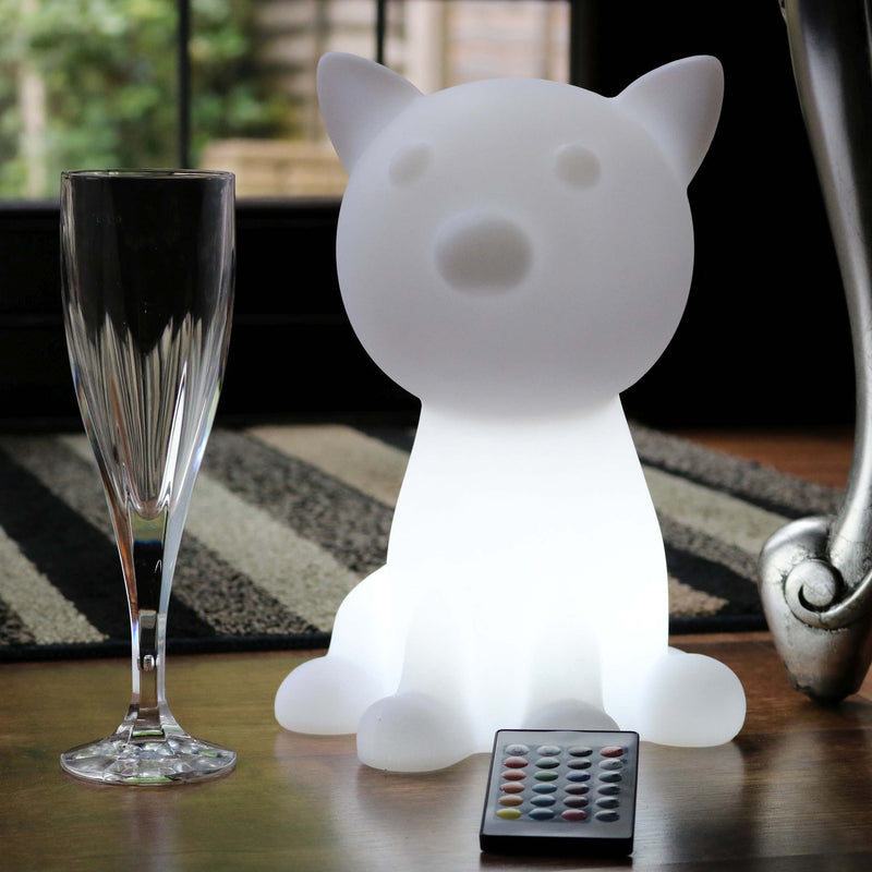 LED Bedside Night Lamp for Kids, Cordless 26cm Cat Sensory Glow Light