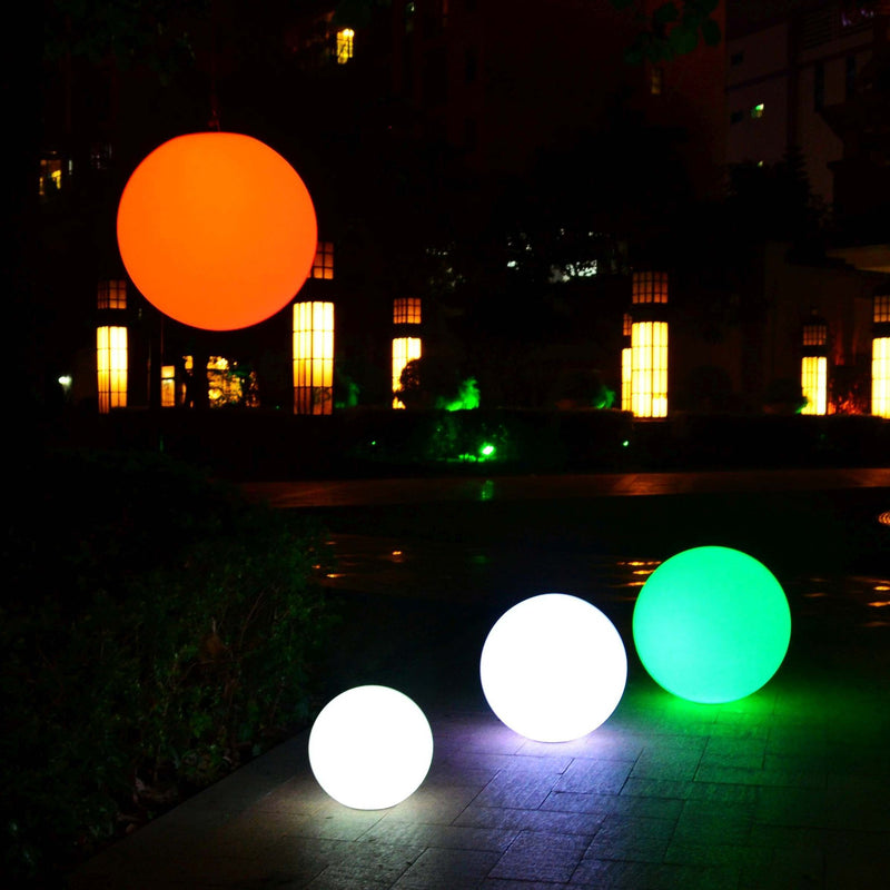 Set of 3 Outdoor Floating LED Pool Lights - Spheres for Wedding, Event