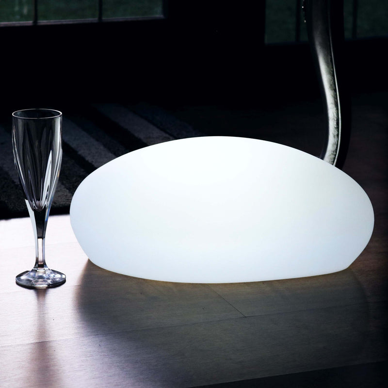 Decorative Colour Changing LED Table Lamp, Rechargeable, Pebble Stone