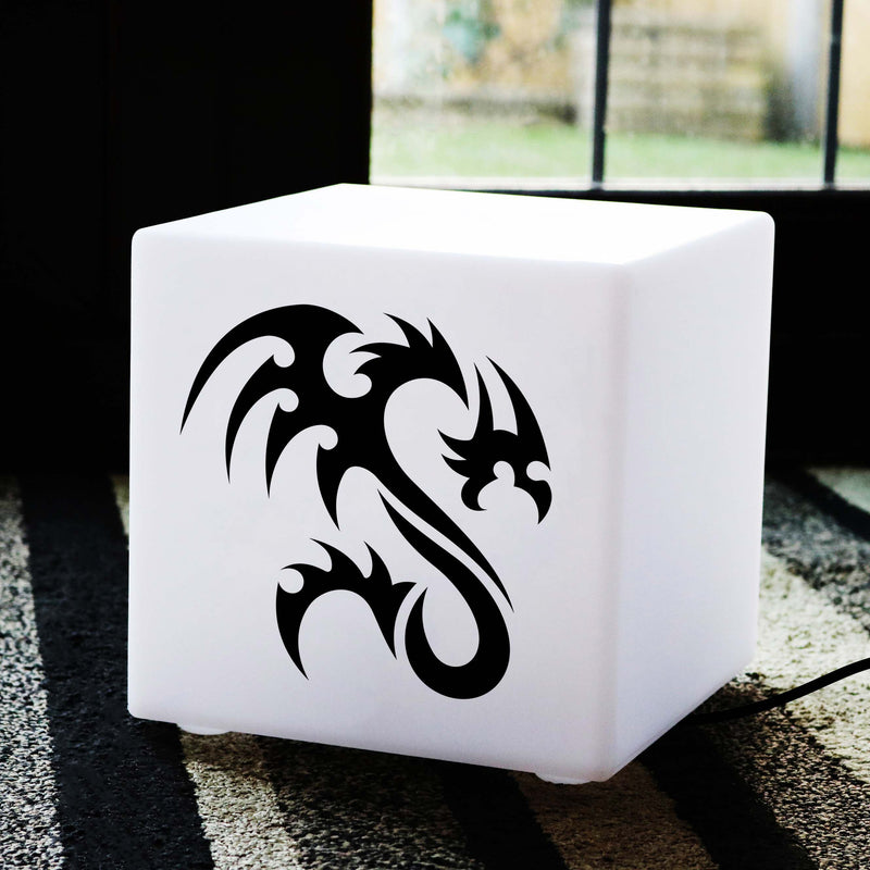 Hand Made Gift Light Box, Decorative Table Lamp for Birthday, Cube , E27, Warm White, Dragon Gift Lamp