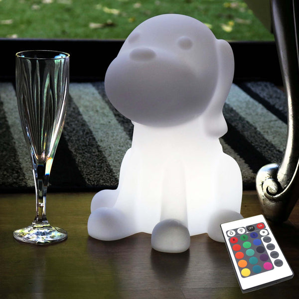 LED Bedside Night Lamp Children, Rechargeable 26cm Dog Sensory Light