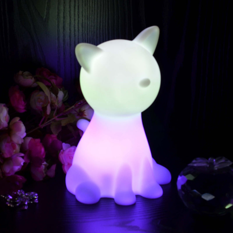 glowing led cat lamp