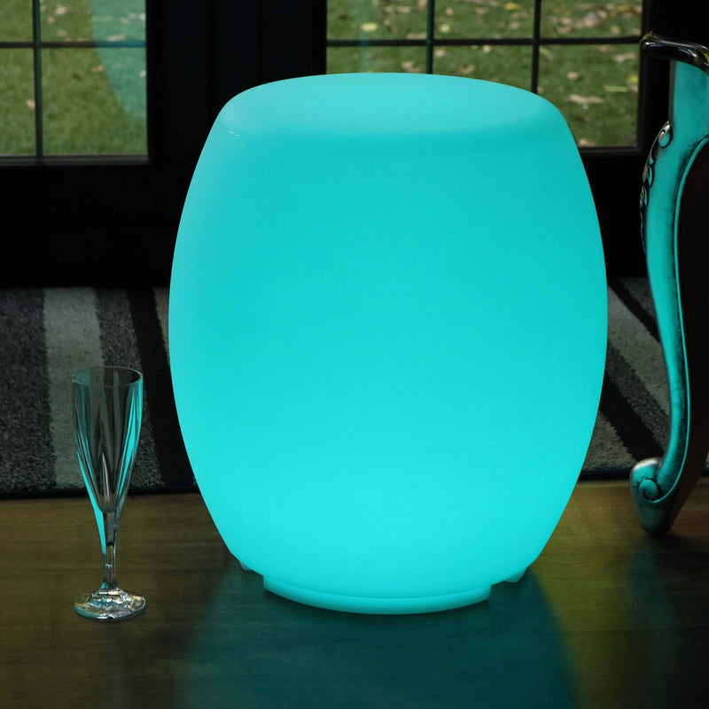 Cordless LED Light Up Stool Seat / Furniture / Side Table / Floor Lamp
