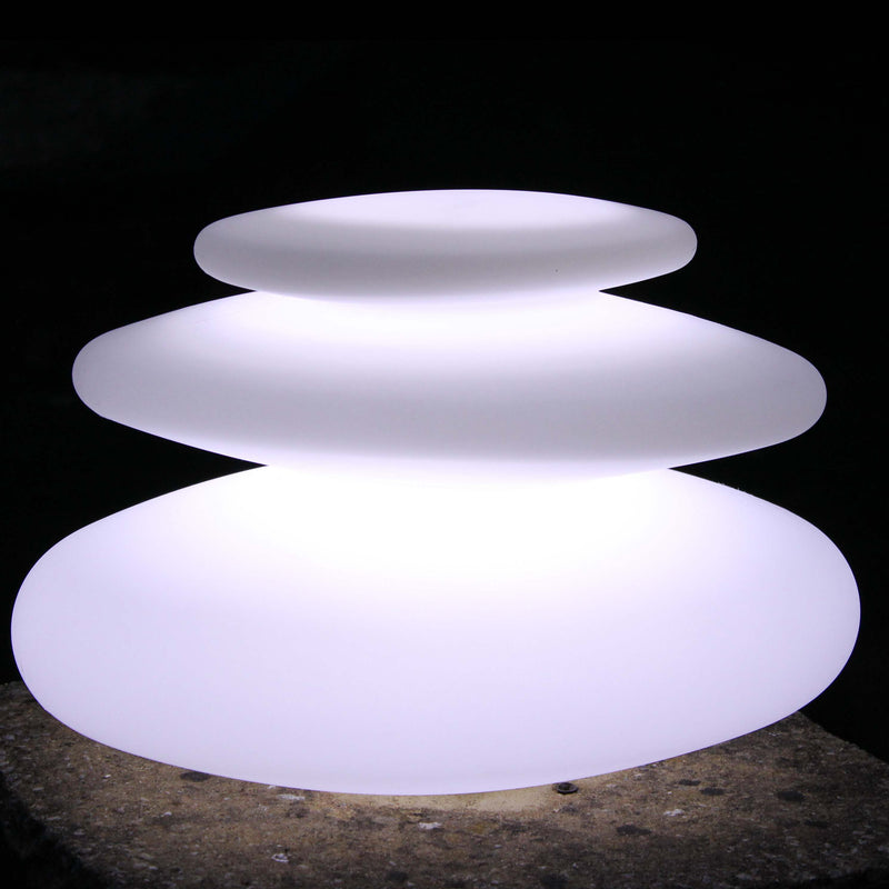 Spiral shaped decorative lamp glowing white
