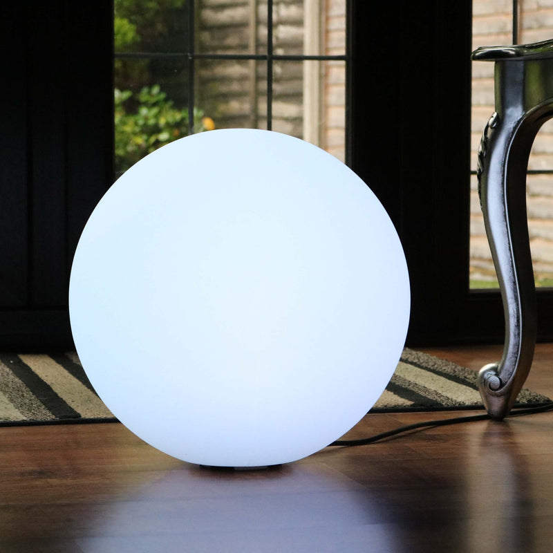 Decorative LED Floor Lamp, 40cm Modern Dimmable RGB Orb Mood Lighting