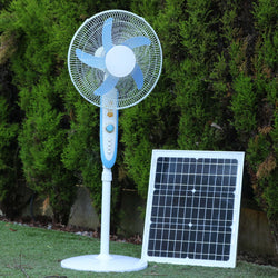 Solar Fan 12V 40W - Floor Standing DC Fan + 40W Solar Panel