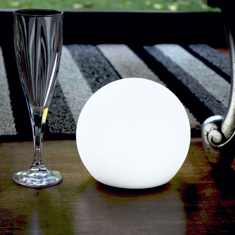 15cm Outdoor Sphere Light, Floating LED Rechargeable Ball + Remote IP67